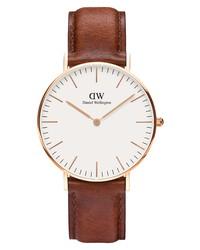 Daniel Wellington Classic St Mawes Leather Watch