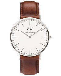 Daniel Wellington Classy St Mawes Leather Strap Watch