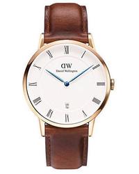 Daniel Wellington Dapper St Mawes Leather Strap Watch