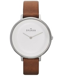 Skagen Ditte Leather Strap Watch 37mm