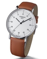 Tissot Everytime Leather Strap Watch 42mm