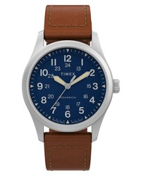 Timex Expedition North Field Post Mechanical Leather Watch