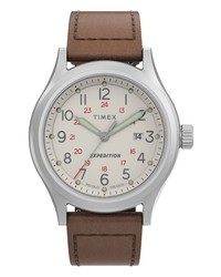 Timex Expedition Sierra Leather Watch