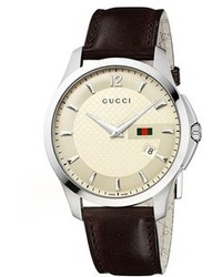 Gucci G Timeless Leather Strap Watch 40mm