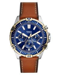Fossil Garrett Chronograph Leather Watch