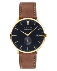 Movado Heritage Calendoplan Leather Watch