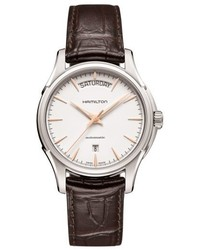 Hamilton Jazzmaster Automatic Leather Strap Watch 40mm