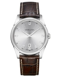 Hamilton Jazzmaster Thinline Leather Strap Watch 42mm