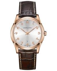 Hamilton Jazzmaster Thinline Leather Strap Watch 42mm