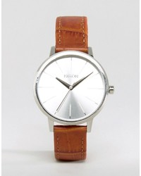 Nixon Kensington Tan Leather Watch