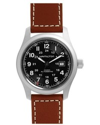 Hamilton Khaki Field Automatic Leather Strap Watch 42mm