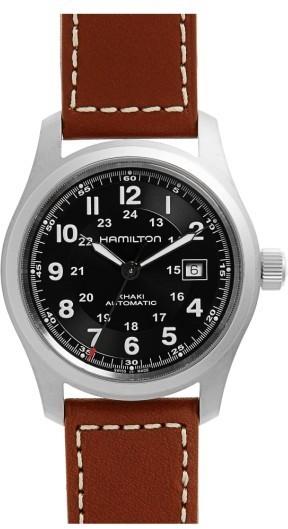 Hamilton Khaki Field Automatic Leather Strap Watch 42mm