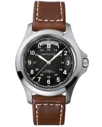 Hamilton Khaki King Automatic Leather Strap Watch 40mm