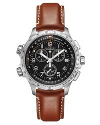 Hamilton Khaki X Wind Chronograph Leather Watch
