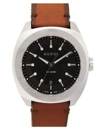 Gucci Leather Strap Watch 44mm