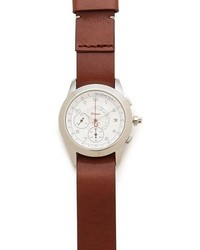 M2 white watch with brown leather band medium 53632