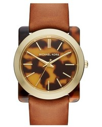 MICHAEL Michael Kors Michl Michl Kors Kempton Leather Strap Watch 39mm