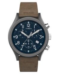 Timex Mk1 Chronograph Leather Watch