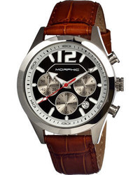 Morphic M15 Series 1502 Brown Leatherblack Analog Watches