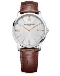 Baume & Mercier My Classima 10380 Stainless Steel Alligator Embossed Leather Strap Watch