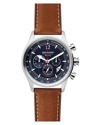 Jack Mason Nautical Chronograph Leather Watch