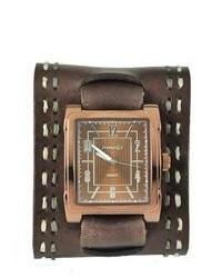Nemesis Wide Chocalate Brown Leather Watch