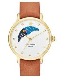 Kate Spade New York Metro Moon Leather Strap Watch 34mm