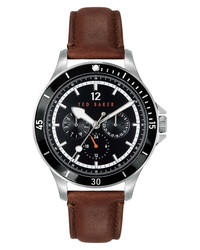 Ted Baker London Northn Leather Watch