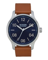 Nixon Patrol Leather Watch