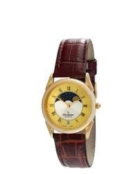 Peugeot Vintage Two Tone Moon Leather Watch