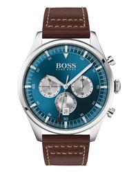 BOSS Pioneer Chronograph Leather Watch