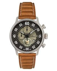 TESLA R Re Balance T 1 Chronograph Sport Leather Watch