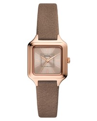 Fossil Raquel Square Leather Watch