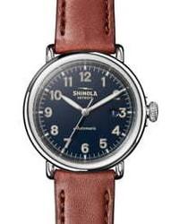 Shinola Runwell Automatic Leather Watch