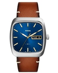 Fossil Rutherford Leather Strap Watch 41mm