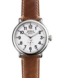 Shinola 47mm Runwell Watch Whitebrown