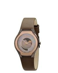 Skagen Brown Leather Strap Watch