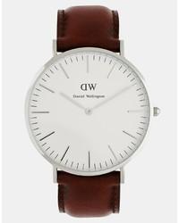 Daniel Wellington St Andrews 40mm Leather Strap Watch