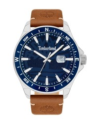 Timberland Swampscott Leather Watch