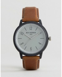 Ben Sherman Tan Faux Leather Watch