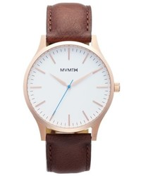 MVMT The 40 Leather Strap Watch 40mm