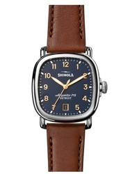 Shinola The Guardian Leather Strap Watch 36mm