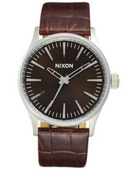 Nixon The Sentry 38 Leather Strap Watch 38mm