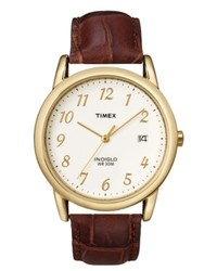 Timex Watch Brown Leather Strap T2m441um