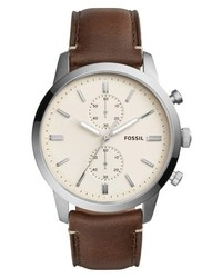 Fossil Townsman Chronograph Leather Strap Watch