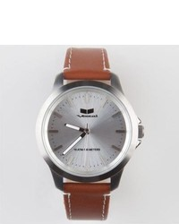 Vestal Heirloom Leather Watch Brown One Size For 234409400
