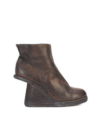 Guidi Cut Away Stacked Wedge Boots