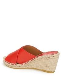823ef787461 Bettye Muller Dijon Leather Wedge Espadrille Slide Sandal, $195 ...