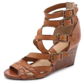 7cc805e339 Frye Rain Strappy Wedge Sandals, $348 | shopbop.com | Lookastic.com