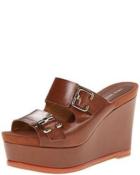 Nine West Vachel Leather Wedge Sandal  Choose Colorsz